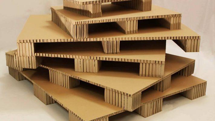 Pallet giấy sử dụng cho hàng hóa trọng lượng nhẹ